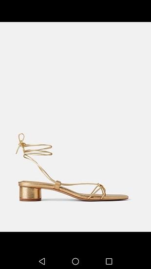 Zara dore sandalet