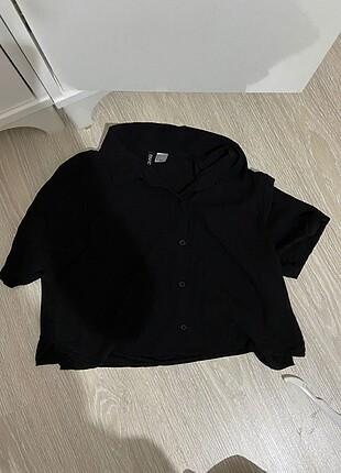H&M siyah gömlek