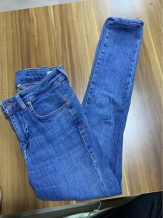 Mavi çok rahat çok likralı tayt kot pantolon