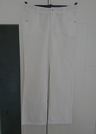 40 Beden Kadın beyaz pantolon