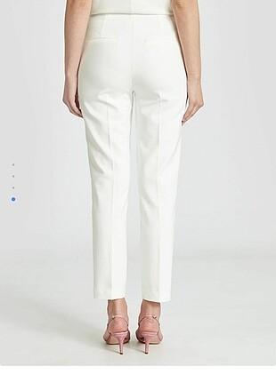 40 Beden beyaz Renk Kadın beyaz pantolon
