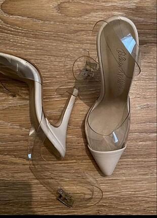 Şefaf ince topuklu ayakkabı
