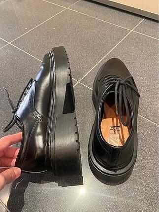 39 Beden siyah Renk Zara oxford ayakkabi