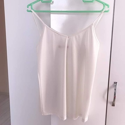Beyaz askılı bluz m beden