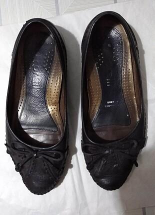 Forelli marka deri kadın babet ayakkabı