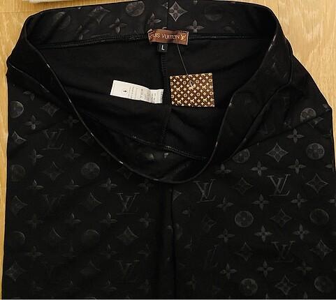 l Beden Siyah Tayt - Dalgıç kumaş