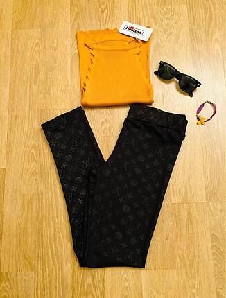 Siyah Tayt - Dalgıç kumaş