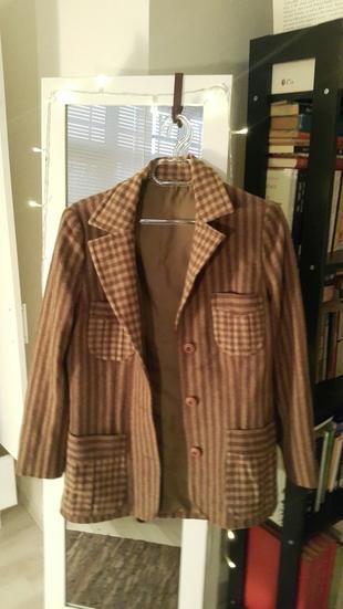 çizgili vintage ceket