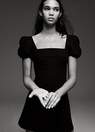 Zara 2021 Yeni Sezon Siyah Renk Elbise