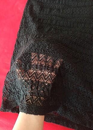 LC Waikiki Siyah uzun elbise