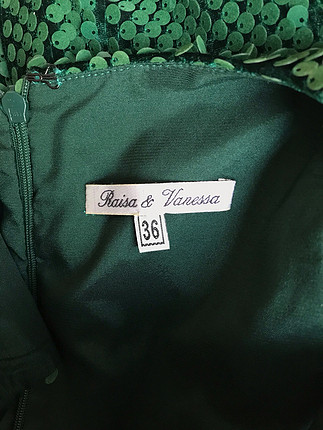 36 Beden yeşil Renk Pullu elbise