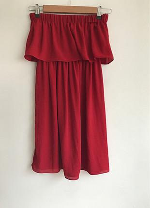 Dahlia Bianca Omuz dekolteli elbise