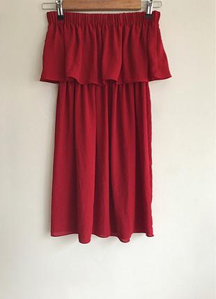 xs Beden Omuz dekolteli elbise