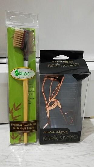 Bambu saplı Kaş kirpik fırçası ve kirpik kıvırcı