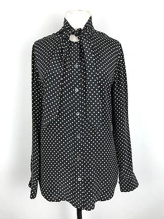 Desenli İpek Bluz