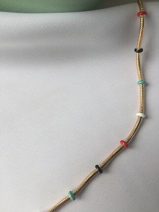 Pandora Çelik Karışık Renk Mineli Kolye