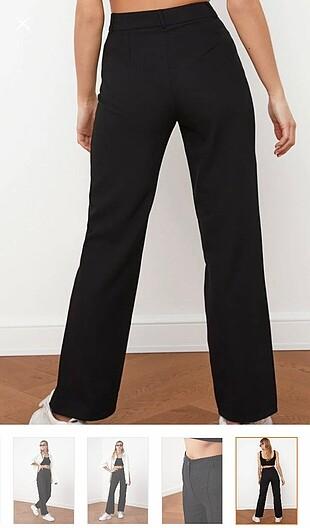34 Beden Siyah yüksek bel pantolon