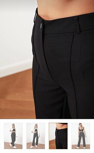 Trendyol & Milla Siyah yüksek bel pantolon