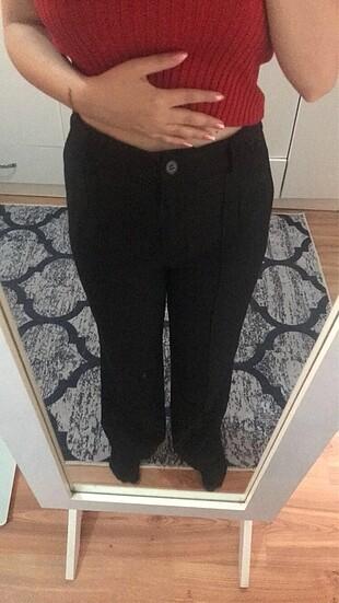 34 Beden siyah Renk Siyah yüksek bel pantolon