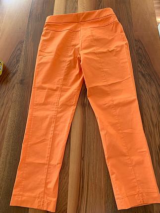 38 Beden turuncu Renk Herry Turuncu kumaş pantolon