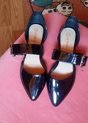 37 Beden siyah Renk kemerli babet ayakkabı