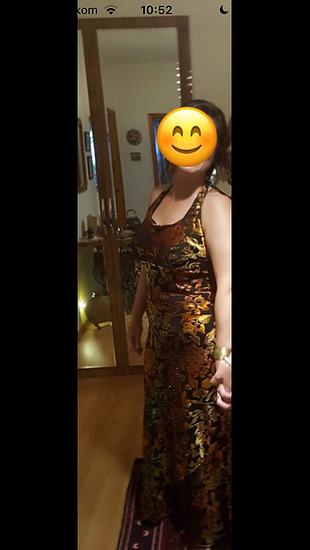 42 Beden çeşitli Renk İnce Kadife çok şık boyundan bağlamalı Abiye elbise