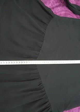 38 Beden siyah Renk Kollu tunik & mini elbise