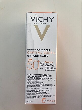 Vichy capital 50 spf anti age güneş kremi