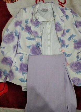Takım elbise lila renk
