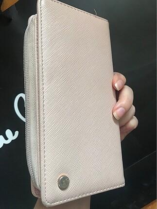 Pudra pembe kadın cüzdan