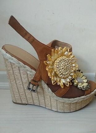 Nine West hasır ve deri ayakkabı