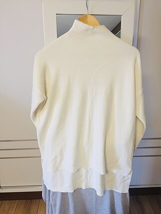Beyaz triko kazak