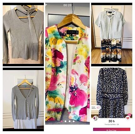 Çoklu bluz,elbise ve küpe paketi