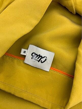 m Beden sarı Renk Şık Gömlek