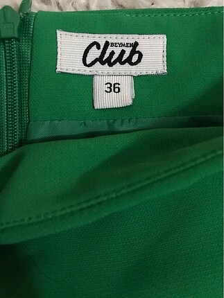 s Beden yeşil Renk Kısa etek