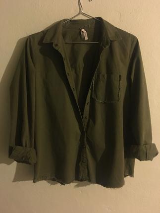 Yeşil inçe ceket