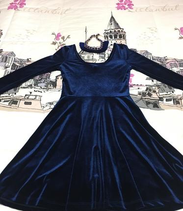 Çok şık kadife harka bir elbise