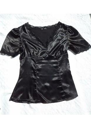 Herry ipek siyah bluz