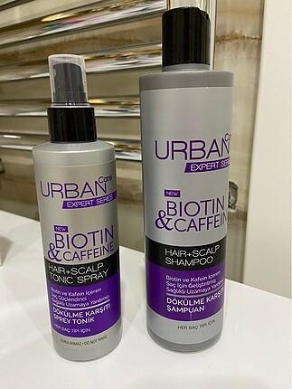 Urban care biotin caffeine şampuan ve saç tonigi
