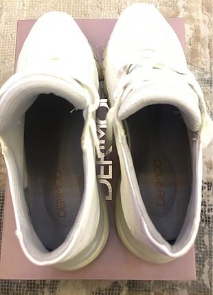 38 Beden beyaz Renk Derimod beyaz sneaker