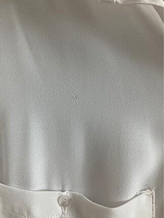 s Beden beyaz Renk Bershka şifon gömlek