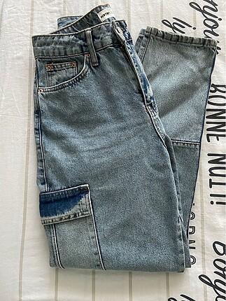 Hiç kullanılmamış kusursuz kot kargo pantolon
