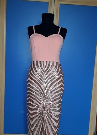 36 beden balık model elbise