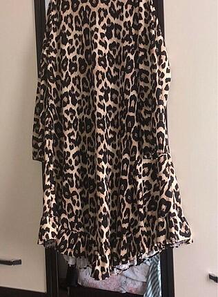 Markasız Ürün Elbise de olarak kullanılır tunik olarakta #leopar #hirka #