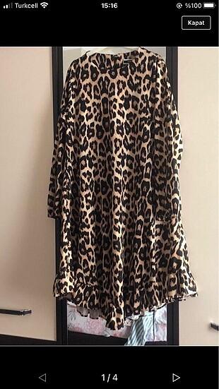 Elbise de olarak kullanılır tunik olarakta #leopar #hirka #
