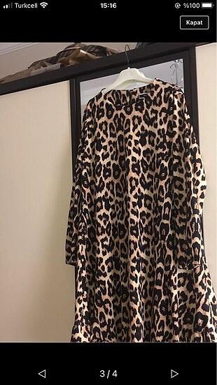 m Beden çeşitli Renk Elbise de olarak kullanılır tunik olarakta #leopar #hirka #