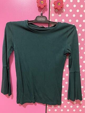 Bershka Petrol Yeşili Bluz