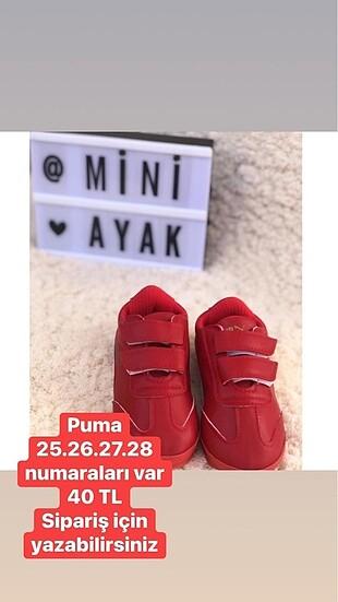 Puma çocuk ayakkabı