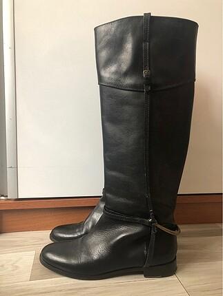 Uterqüe uterque gold detaylı siyah binici çizme