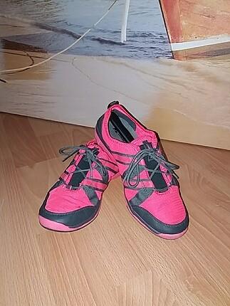 Pembe Fileli Spor Ayakkabı